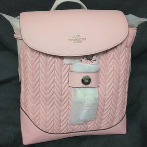 Coach Elle Backpack With Quilting Pink NWT $478